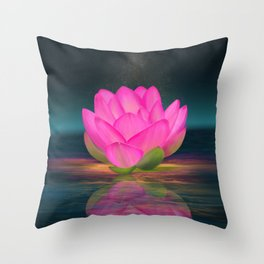 Floating Into Nothingness Throw Pillow