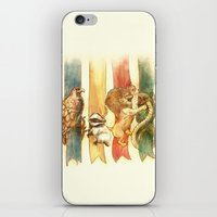 house md iPhone & iPod Skins featuring House Brawl by Alice X. Zhang
