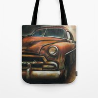 car Tote Bags featuring Car by Adrianna Grężak
