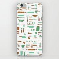 kitchen iPhone & iPod Skins featuring Kitchen by Mathilde Ruau