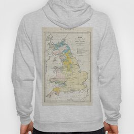 Vintage Map of the Coal Fields of Great Britain Hoody