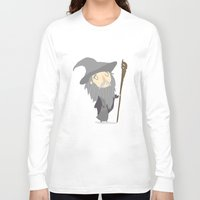 gandalf Long Sleeve T-shirts featuring Gandalf the grey by Rod Perich
