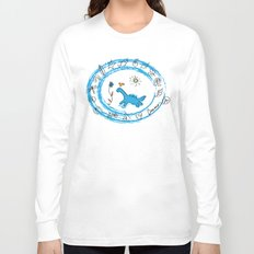 bird and dinosaur Charms Long Sleeve T-shirt