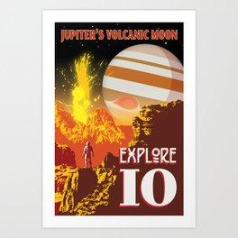 Io - Jupiter's Volcanic Moon Art Print