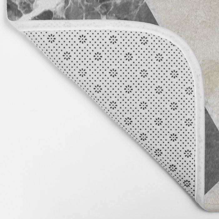 marble quartz geometric Bath Mat