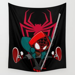 Miles into the Spiderverse Wall Tapestry