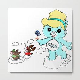 Cinderella Care Bear Metal Print