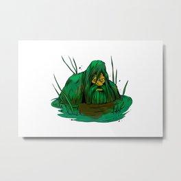 Bigfoot  creeping in swamp Metal Print