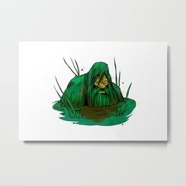 Bigfoot  creeping in swamp Metal Print