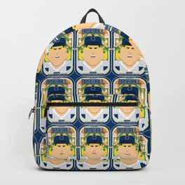 Baseball Blue Pinstripes - Deuce Crackerjack - Hazel version Backpack