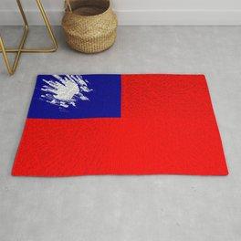Extruded flag of Taiwan Rug