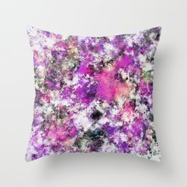 Reflecting the purple water Throw Pillow