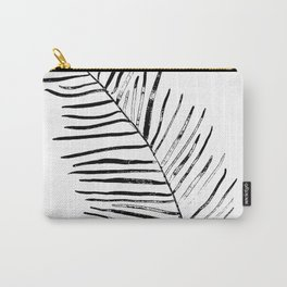Monochrome plant leaf Carry-All Pouch