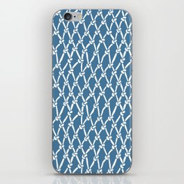 Fishing Net Blue iPhone Skin
