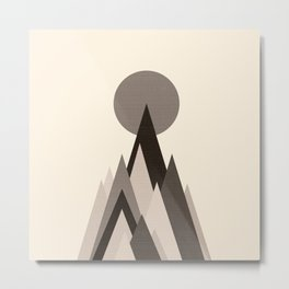 Mountain in the middle of the moon Metal Print