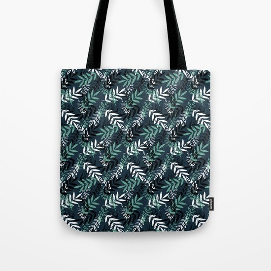 Blue Messy Leaves #society6 #decor #buyart Tote Bag