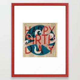 Happy Octopus Birthday! Framed Art Print