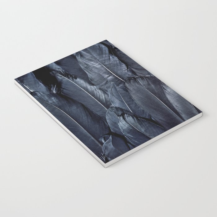 Black Feather Close Up Notebook