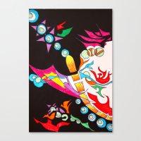 chakra Canvas Prints featuring Chakra Burst by Komal Garewal