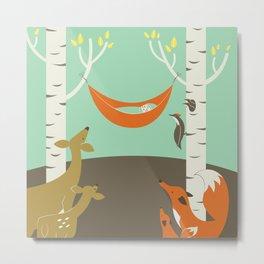 Woodland Baby Metal Print