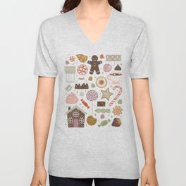 In the Land of Sweets Unisex V-Neck
