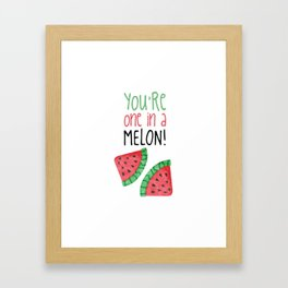 One In A Melon Framed Art Print