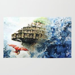 """The castle in the sky"" Rug"