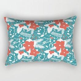 Teal Christmas Rectangular Pillow