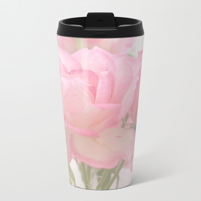 Gentleness - Soft Pink Rose #1 #decor #art #society6 Metal Travel Mug