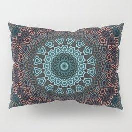 Blue , brown , round , ornament Pillow Sham