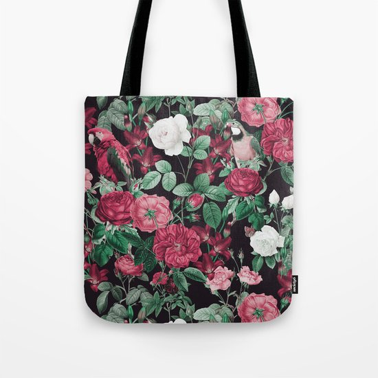 Fall/Winter17-18 Botanical Pattern Tote Bag