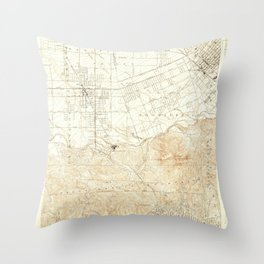 Burbank, CA from 1926 Vintage Map - High Quality Throw Pillow