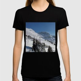 Mountains color palette of white-black-blue T-shirt
