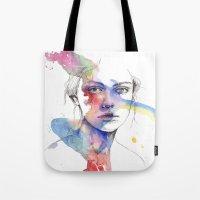 inspiration Tote Bags featuring Inspiration by Tsukiko-Kiyomidzu