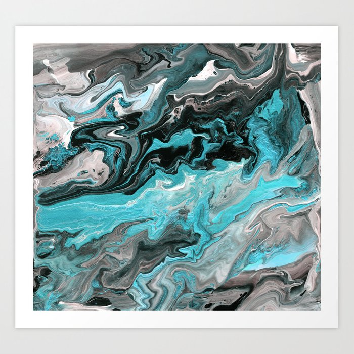 Turquoise Marble Art Print