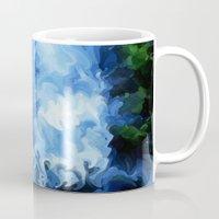 waterfall Mugs featuring Waterfall by Paul Kimble