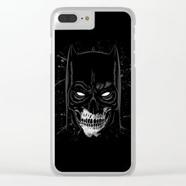 Knight Skull Clear iPhone Case