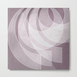 Orbiting Lace in Musk Mauve Tones Metal Print