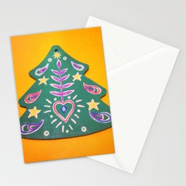 Folk Christmas Tree Stationery Cards