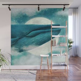 The Great Whale Wall Mural