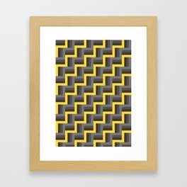 Plus Five Volts - Geometric Repeat Pattern Framed Art Print