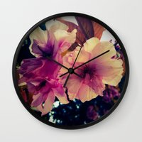 blossom Wall Clocks featuring Blossom by Monica Georg-Buller