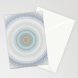 Soft Blue Mandala Stationery Cards