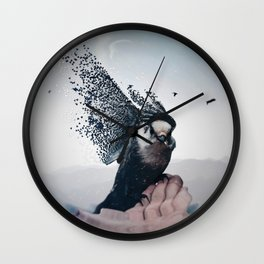 This bird that sings with its feathers by GEN Z Wall Clock