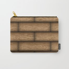 Realistic wood texture Carry-All Pouch