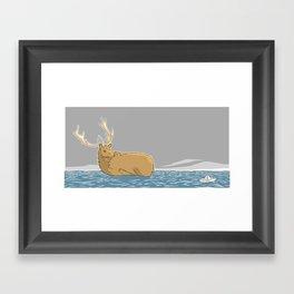 A deer (1) Framed Art Print