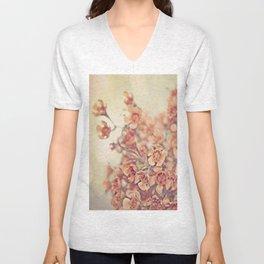 Orange Waxflowers Unisex V-Neck