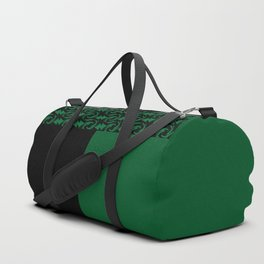 Abstract combo black and green decor Duffle Bag
