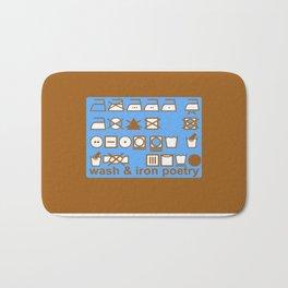 WASH AND IRON POETRY- LAUNDRY SYMBOLS Bath Mat