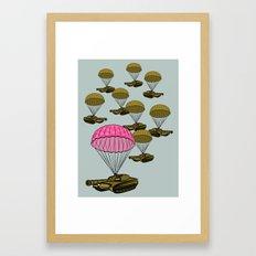 Tank Parachute Framed Art Print